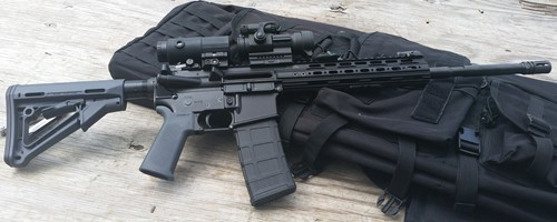 VPS-15 with Samson Magnifier and Aimpoint PRO