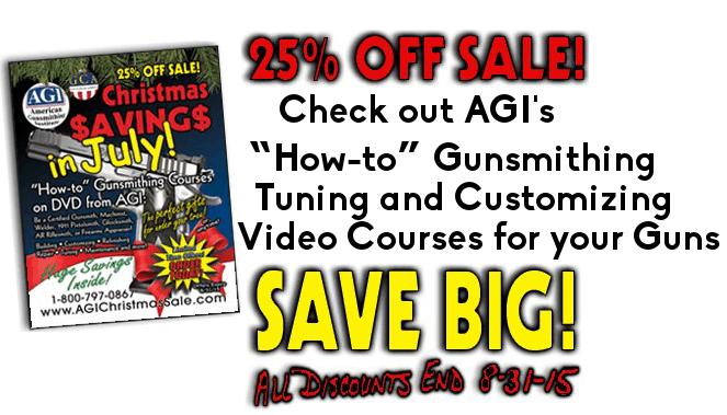 American Gunsmithing Institute Christmas in July Sale