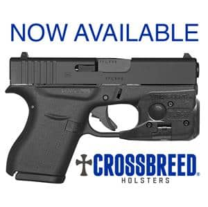 CrossBreed Holsters for Glock 42 and Glock 43 with Streamlight TLR-6