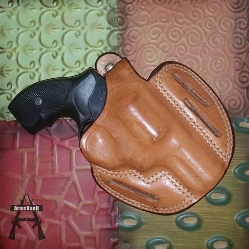 Taurus 357 Magnum in Bianchi Leather Holster