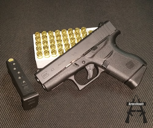 Glock 43 9mm with Winchester 9mm from Lucky Gunner