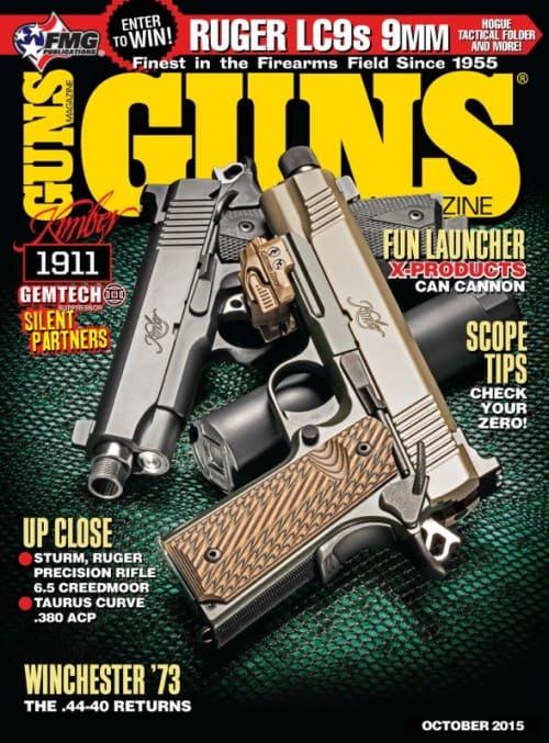 Gemtech Suppressed Kimber 1911s on GUNS October Cover