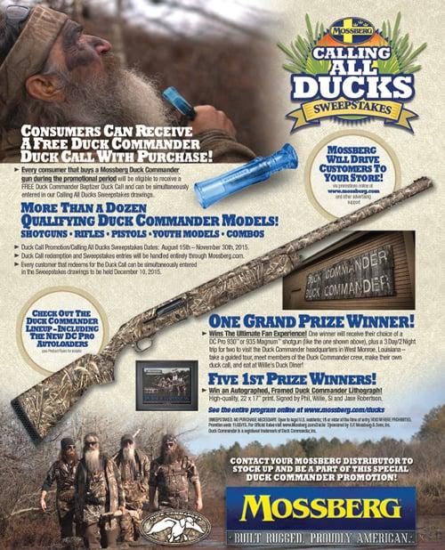 Mossberg Duck Commander Promotions