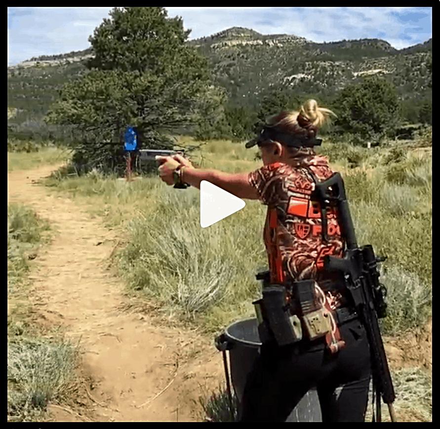 Heather Miller at the Rocky Mountain 3-Gun World Shoot