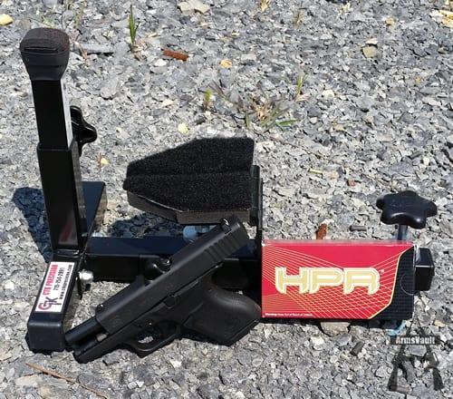 Glock 43 with HPR 9mm 115gr TMJ Ammo