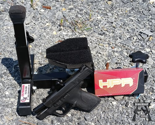 Smith and Wesson Shield with HPR 9mm 115gr TMJ Ammo