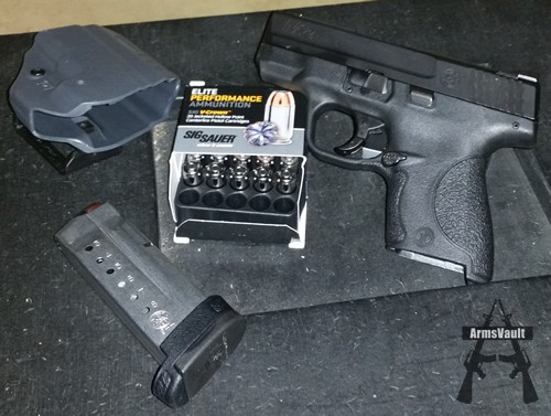 SW Shield and Sig V-Crown 9mm 115gr JHP Ammo