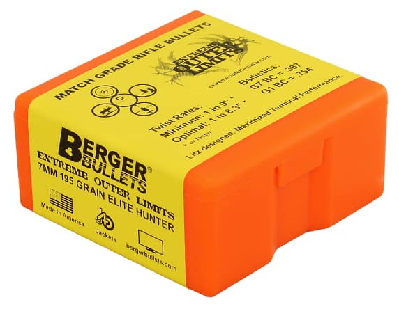 Berger Bullets 7mm 195 gr EOL Elite Hunter