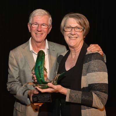 Larry and Brenda Potterfield Receive John L Morris Award