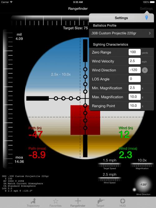 Ballistic App Rangefinder