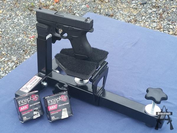PolyCase Inceptor ARX 9mm Ammunition from Glock 43