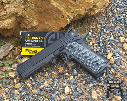 Rock Island Armory 1911 with Sig Sauer Elite Performance FMJ