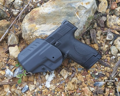 Smith and Wesson Shield with Blackhawk ARC