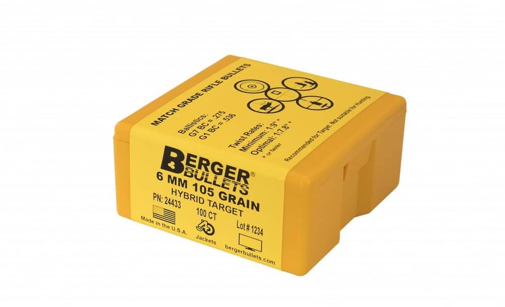 Berger Bullets 6mm 105 Grain Hybrid Target