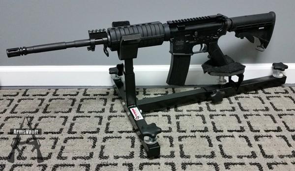 Windham Weaponry SRC in CTK Precision P3 Ultimate Gun Vise