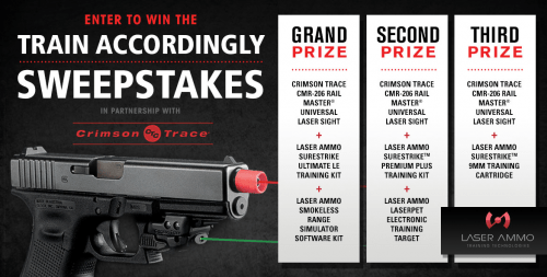 Laser Ammo and Crimson Trace Giveaway Sweepstakes