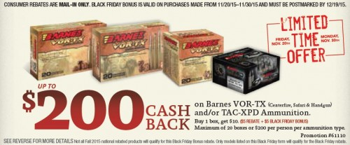 Barnes Bullets Black Friday Bonus Savings