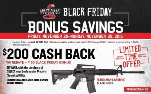Bushmaster Black Friday Rebate