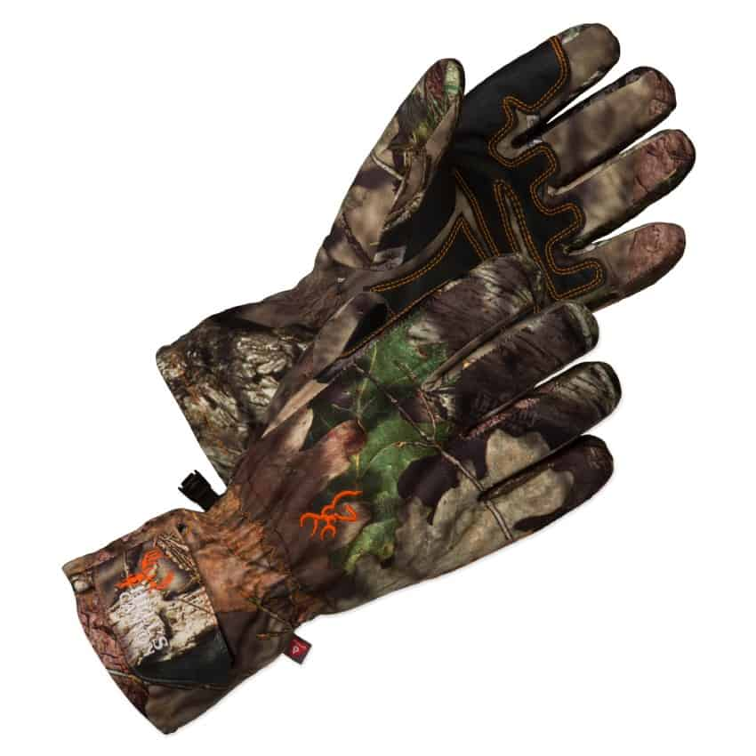 Browning Hells Canyon Primaloft Outdry Gloves in Mossy Oak Break-Up Country