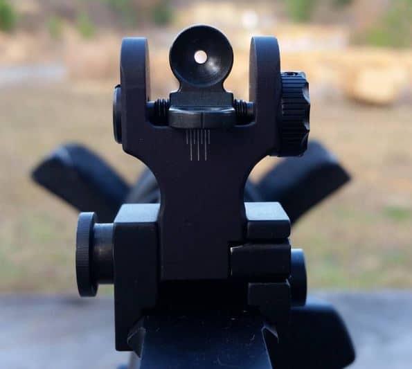 Samson Quick Flip Rear Sight on Windham AR-15