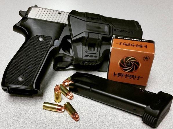 Sig P226 in FAB Defense Scorpus Holster