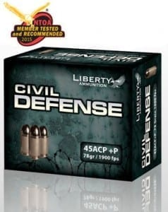 Liberty Ammunition Civil Defense 45 ACP P