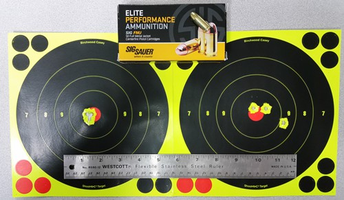 Rock Island Armory 1911 with Sig Sauer 9mm FMJ Ammunition - 7 and 20 Yards