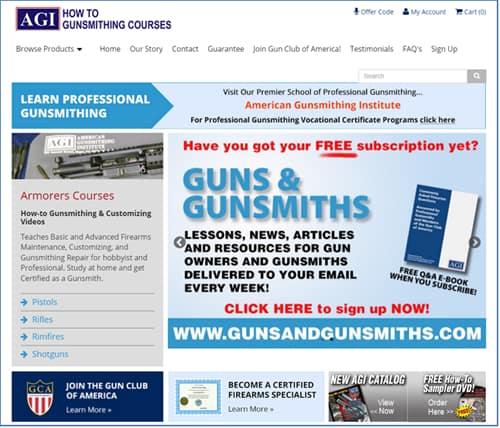 American Gunsmithing Institute Website