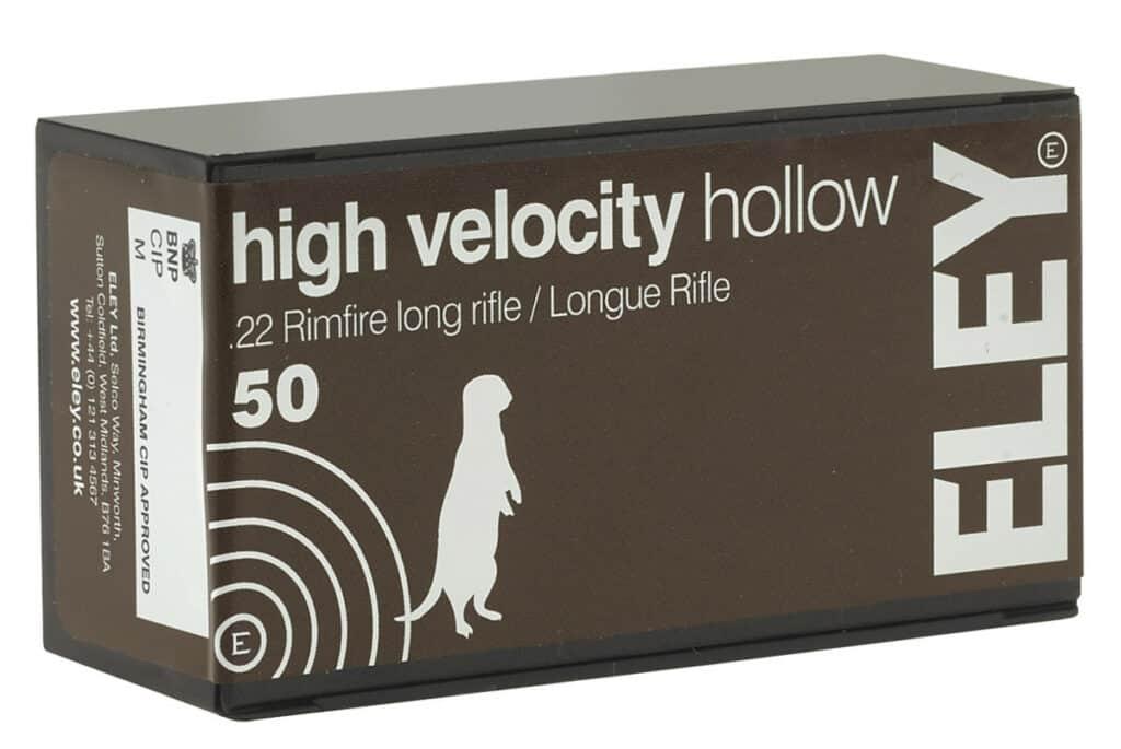 ELEY High Velocity Hollow 22 LR