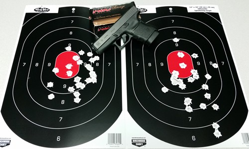 Glock 36 with PMC Bronze 45 ACP 230gr FMJ