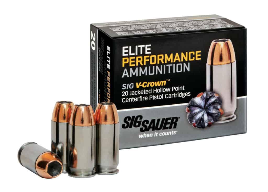 SIG SAUER Elite Performance V-Crown Ammunition