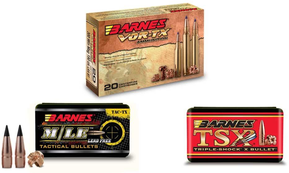 Barnes VOR-TX Ammunition and Components