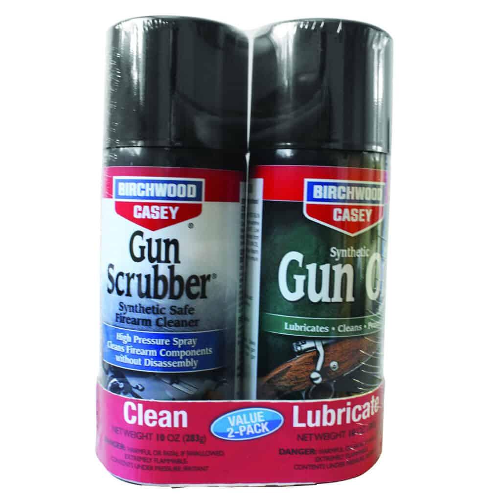 Bircwhood Casey Gun Scrubber and Gun Scrubber and Synthetic Gun Oil Aerosol Combo