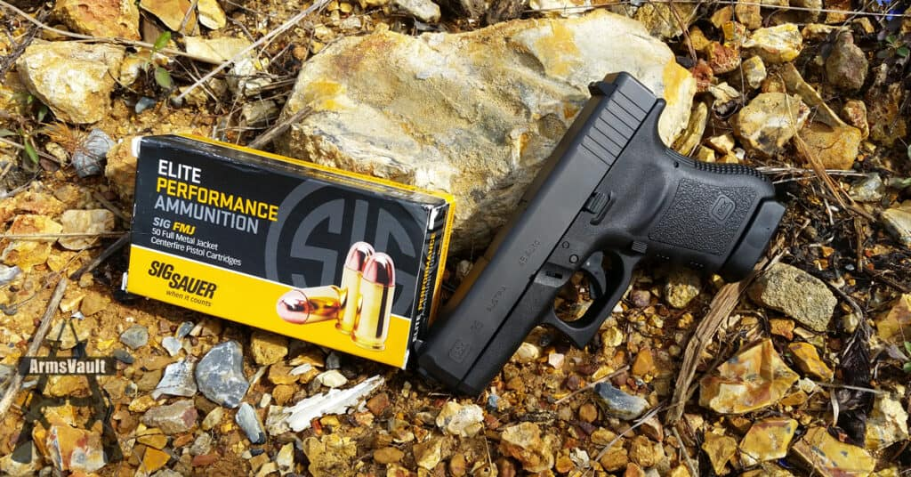 Glock 36 with Sig 45 Auto Elite Performance FMJ
