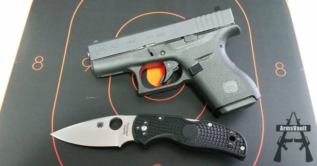 Glock 42 and Spyderco Native 5 PlainEdge