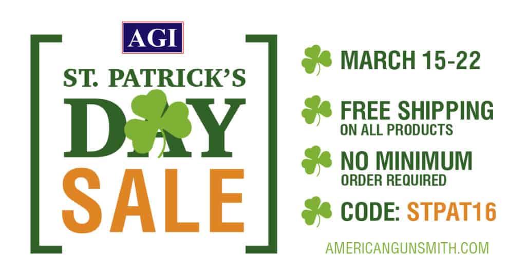 American Gunsmithing Institute St Patricks Day Sale