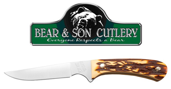 Bear and Son Cutlery 751 Stag Delrin Bird and Trout Knife