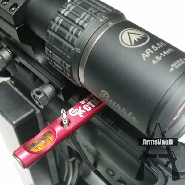 CTK Precision All Purpose Gun Level with Burris AR Riflescope