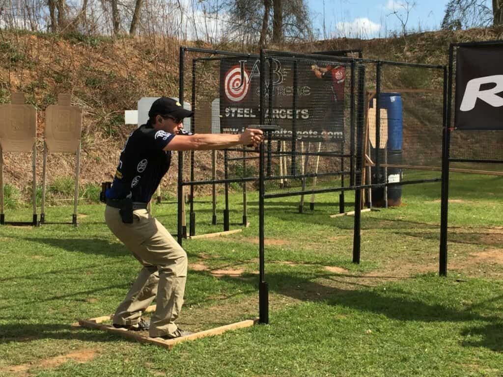 Dave Sevigny at 2016 USPSA Alabama Sectional with the FNS-9 Longslide