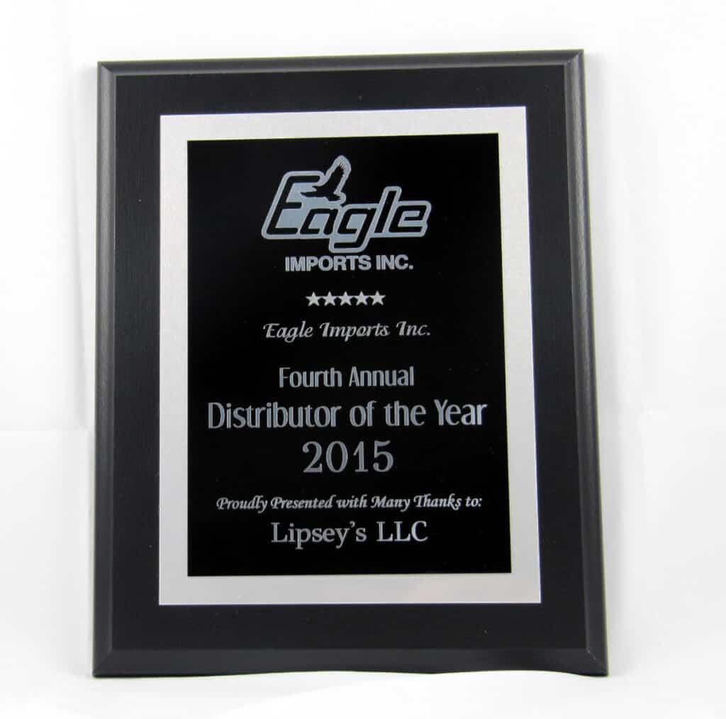 Eagle Imports Distributor of the Year Award - Lipseys