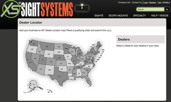 XS Sight Systems Dealer Locator