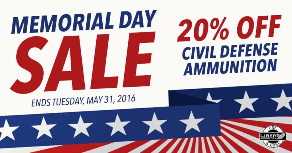 Liberty Ammunition Memorial Day Sale