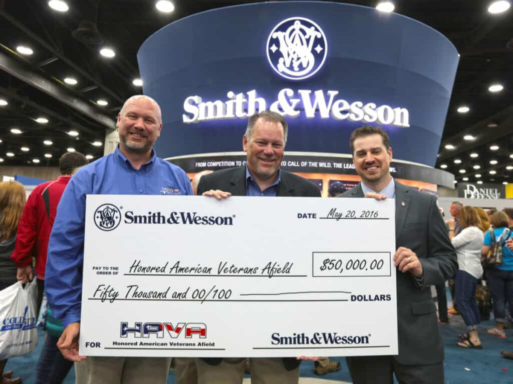 Smith Wesson Donates to Honored American Veterans Afield