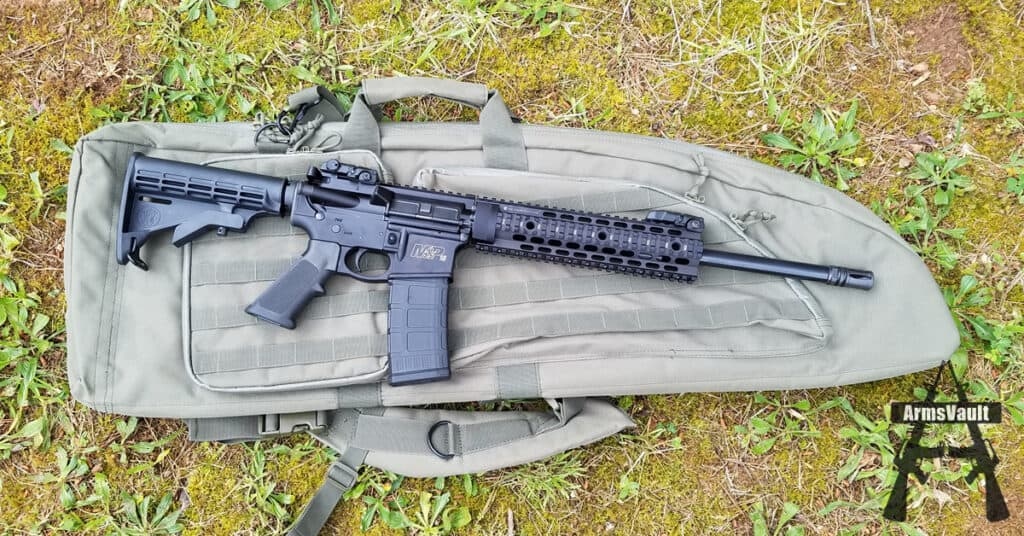 Smith and Wesson MP15T and Voodoo Tactical Drag Bag