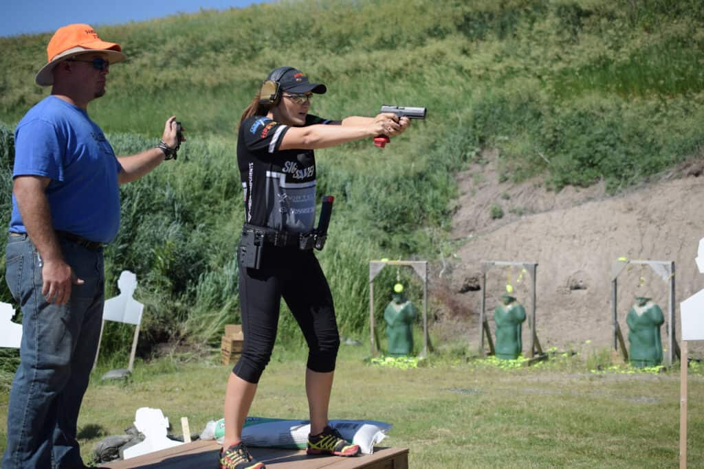 SIG SAUER Shooter Lena Miculek at Zombies in the Heartland 3-Gun Match