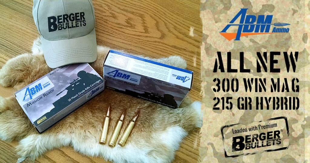 ABM Ammo 300 Winchester Magnum 215gr Hybrid Target Mission Ready