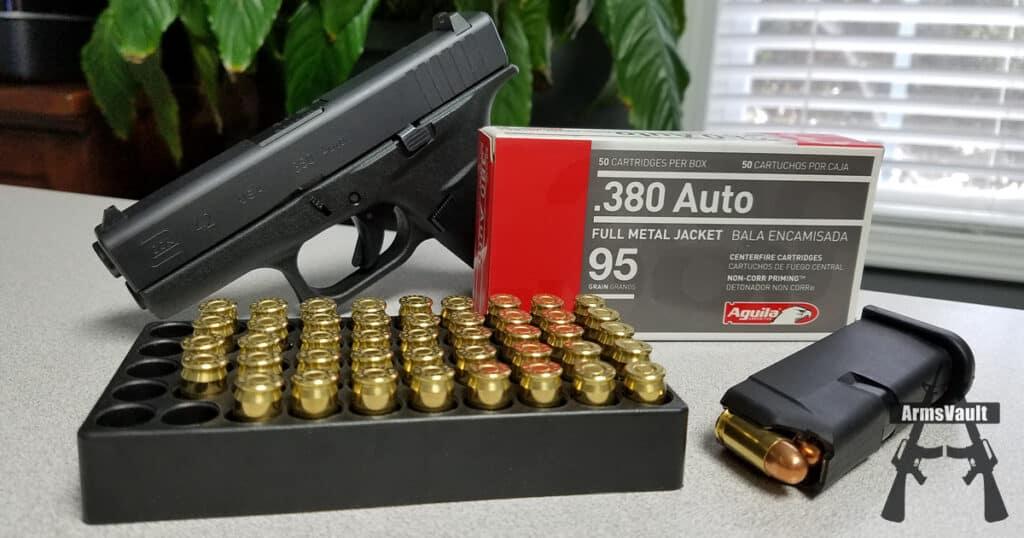 Aguila 380 Auto 95gr FMJ Ammunition