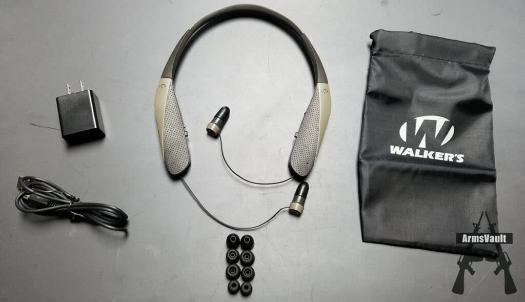 Walkers Razor-X Ear Bud Fitting and Charging Instructions