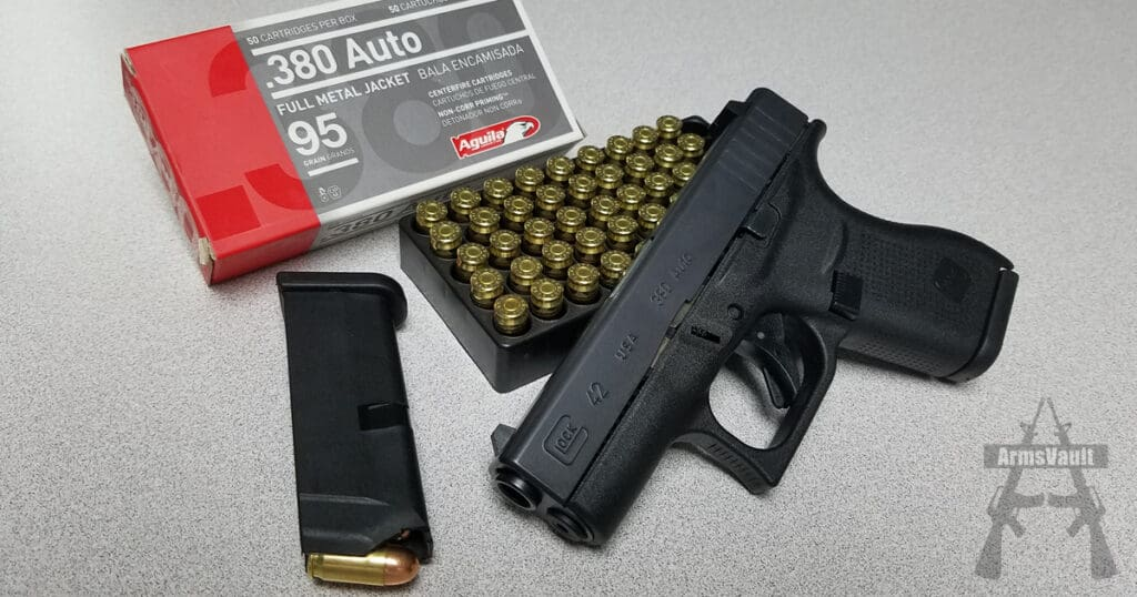 Glock 42 with Aguila 380 FMJ Ammo
