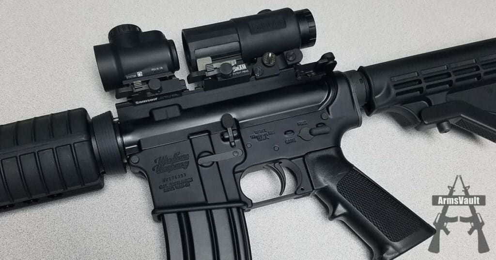Windham SRC with Trijicon MRO and Samson Magnifier